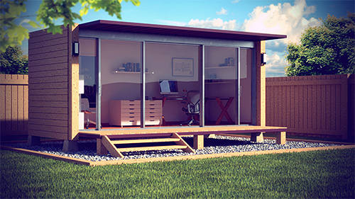 Escritório em container | Containers | Pinterest | Garden office ...